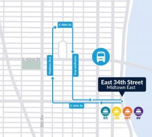 Midtown winter bus shuttle map