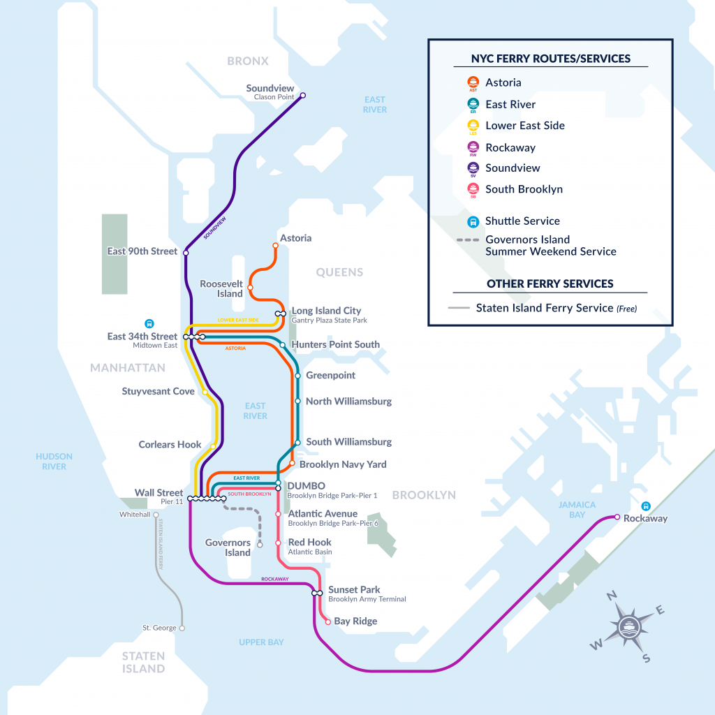 NYCF-Map-2019-2_Current Map - New York City Ferry Service