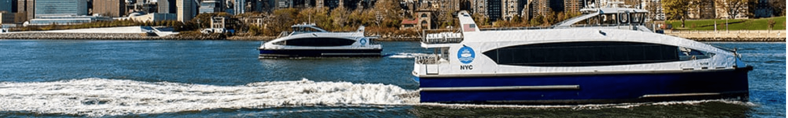 NYC Ferry and Midtown Manhattan view